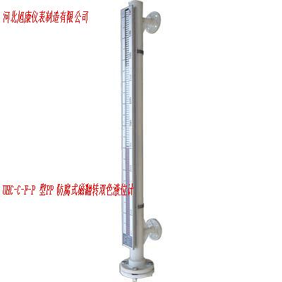 UHC-C-F-P 型PP 防腐式磁翻转双色液位计
