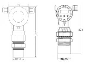 铸铝外壳超声波液位计料位计尺寸