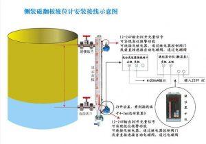 磁浮子液位计输出4-20mA接线图