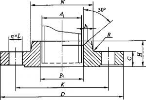 带颈平焊钢制管法兰