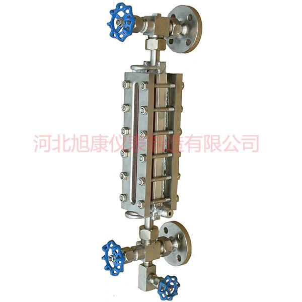 蒸汽伴热式玻璃板液位计保湿型玻璃板液位计